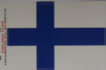 Finland Country Flag Rectangular Decal.
